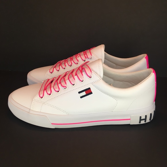 New Tommy Hilfiger Sneakers White Neon
